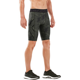 2XU Accelerate Print Compression Shorts Men, asphalt duffel/nero